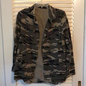 ELODIE camo long sleeve jacket